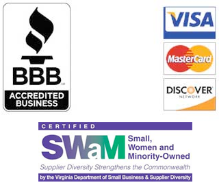Better Business Bureau Accredited Business, SuperGuarantee, and Accepting Visa, Mastercard and Discover